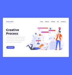 web design flat modern concept - creative process vector image