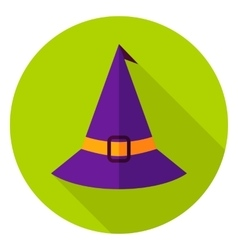 Witch Hat Circle Icon vector