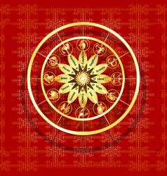 zodiac signs on a textured red background vector image