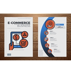 E-commerce business book cover template vector image vector image