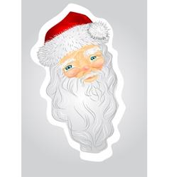 Head of Santa Claus vector image vector image