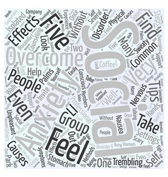 Overcoming social anxiety word cloud concept vector