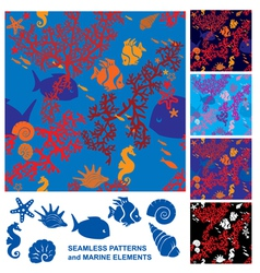 Seamless Coral Reef vector image