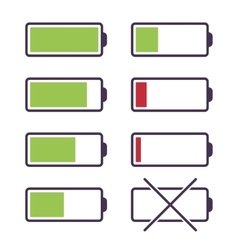 Set of battery charge icons vector image
