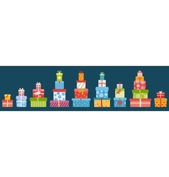 Stacks of gift boxes vector image vector image