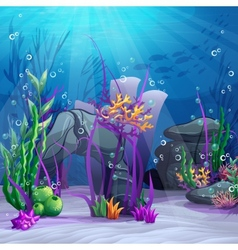 the underwater world vector image vector image