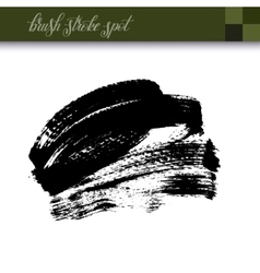 abstract black ink hand drawing brush strokes spot vector image vector image