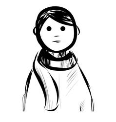 Boy in a scarf vector image vector image