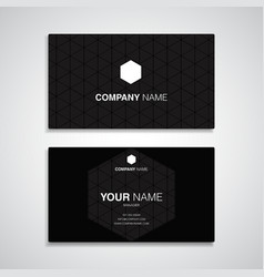 Business card name black template vector