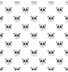 Head of panda pattern cartoon style vector image