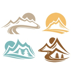 Mountain Elements vector image