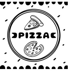 pizza cover for cafe sketch concept vector image