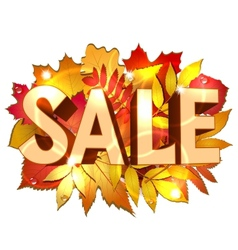 Sale word vector image vector image