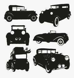 Set retro cars vector