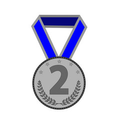 silver medal sign 2103 vector image