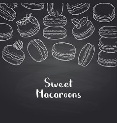 background on black chalkboard with hand vector image