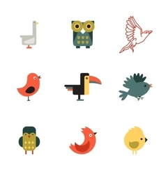 Birds Different Styles vector image