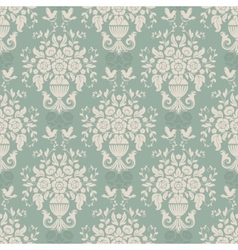 Blue baroque bright pattern vector image