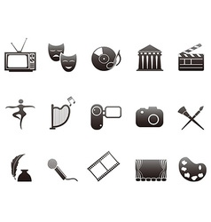 culture and art icons set vector image vector image