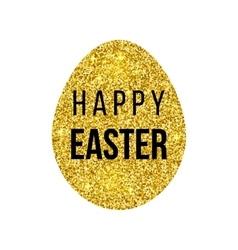 Happy Easter golden card vector image