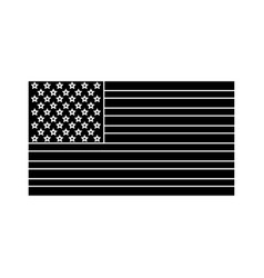 united states of america flag silhouette vector image