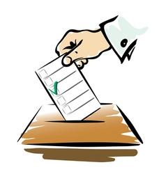 vote symbol vector image vector image