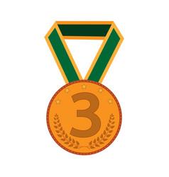 bronze medal sign 2203 vector image