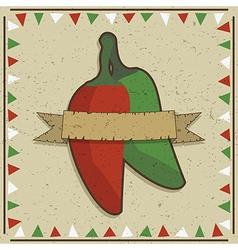 chilli pepper decoration vector image vector image