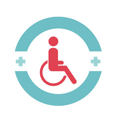 disable person in wheelchair vector image