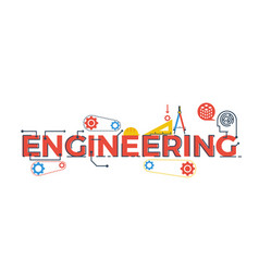 Engineering word vector image vector image
