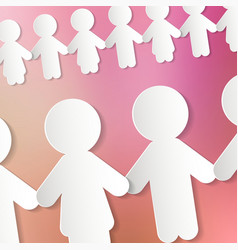 Paper People Chain vector image