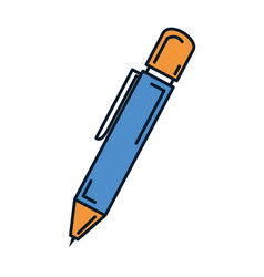 school pen isolated icon vector image