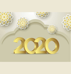 2020 background for your seasonal flyers and vector image