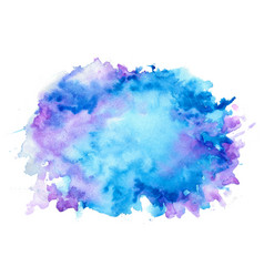 abstract nice blue shades watercolor texture vector image