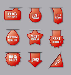 advertising banners and labels vector image