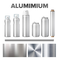 Aluminium and product made from metal stuff vector