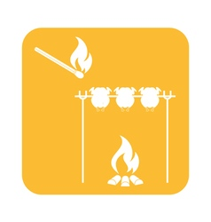 Barbecue Chick Matches icon vector