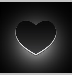 big black heart love symbol vector image