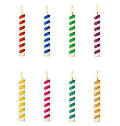 candles for the birthday cake vector image