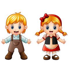 children story hansel and gretel vector image