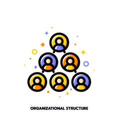 Company organizational structure icon hierarchy vector