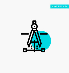 Compass drawing education engineering turquoise vector