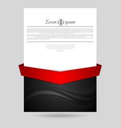 Concept wavy flyer design vector