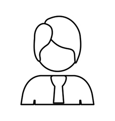 contour half body man with suit vector image vector image