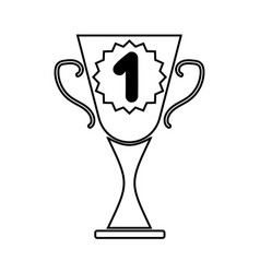 cup winner sign mono 2703 vector image