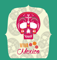 day of the dead banner vector image