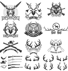 Deer hunting club vector