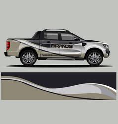 Double cabin truck wrap design wrap sticker vector