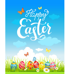 easter holiday poster vector image