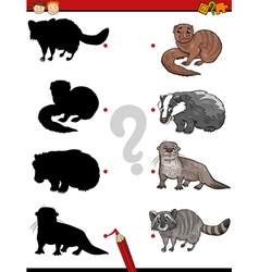 education shadows game cartoon vector image
